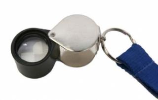 7X Eye Lens on lanyard open PMS Instruments