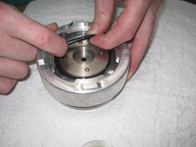Cleaning and Lubricating O-Ring on Pressure Chamber Lid PMS Instruments