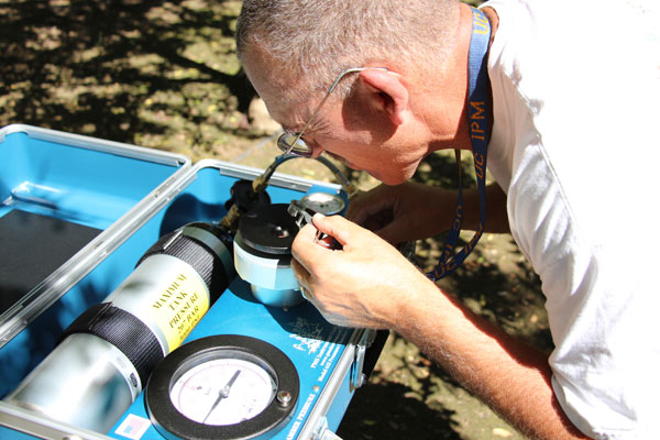 Measuring Stem Water Potential in Almond Trees